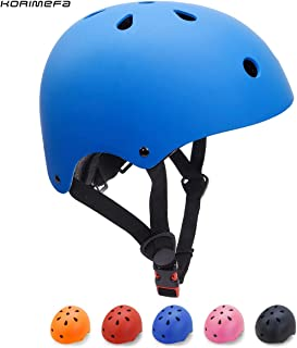 KORIMEFA Casco Bicicleta para Niños Casco Infantil Ajustable para Monopatín Patinaje BMX Esquiar, Casco para multibles Deportes niño niña de Edad de 3-13 años