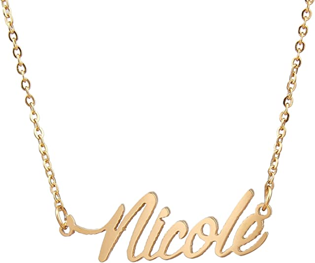 AOLO Personalized Custom Name Necklace