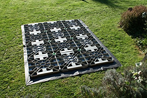 Hawklok 8x4ft PLASTIC SHED BASE KIT FOR A GARDEN SHED + MEMBRANE & CLIPS
