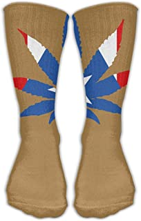 靴下 抗菌防臭 ソックス レディースメンズクラシックソックスプエルトリコ植物フラグアスレチックストッキング