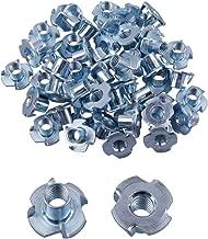 Eowpower 30Pcs 4 Pronged Zinc Plated Tee T-Nut (3/8