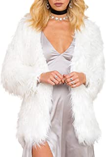shaggy white fur jacket