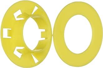 Morris 21760 Polypropylene Stud Bushings, Yellow, 25-Pack