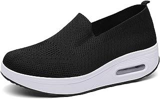 Zapatillas de Deporte Mujer Malla Zapatos Deportivas Air Cuña Cómodos Sneakers Casual Running Transpirable Ligero Zapatillas