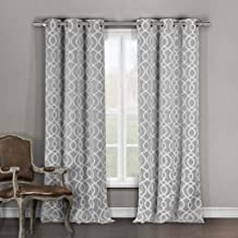 Duck River Textile Heavy Blackout Darkening Window Curtain 2 Panels, Premium Quality, Grey, 36 x 96