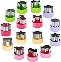 """Magigift 1.5"""" Vegetable Cutter Shapes Set -15pcs - Mini Cookie Cutters Fruit Cookie Pastry Stamps Mold for Kids Baking and..."""