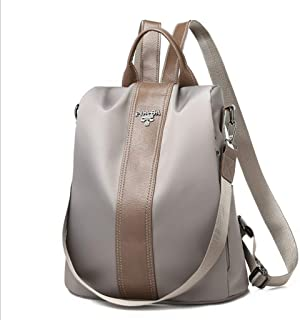 YbzyyqShop Backpack for Girls Anti-Theft Backpacks Casual Travel Bags for Women PU Leather Shoulder Bag School Backpack Sport,Fashion,Travel (Color : Silver)