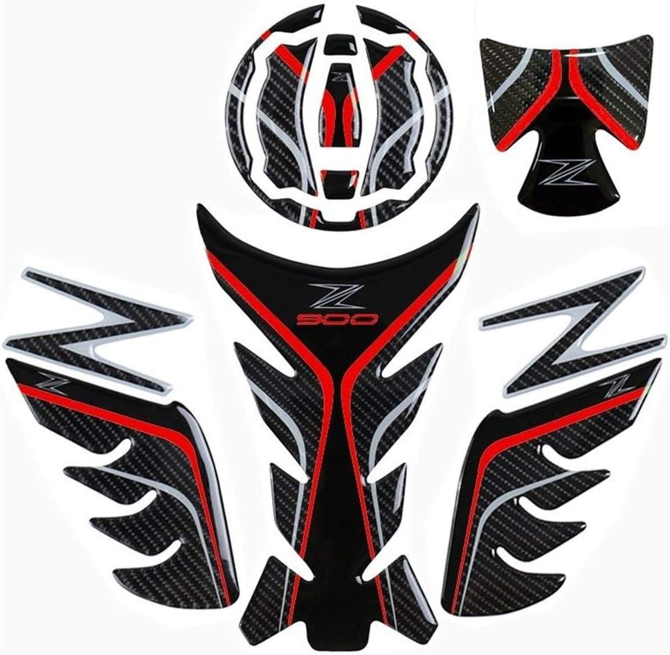 Schutz Aufkleber Für Motorrad Öltank Z900 Echt Carbon Faser Aufkleber Set For Kawasaki Z900 Motorrad Sport Auto Color 900 Set Red Auto
