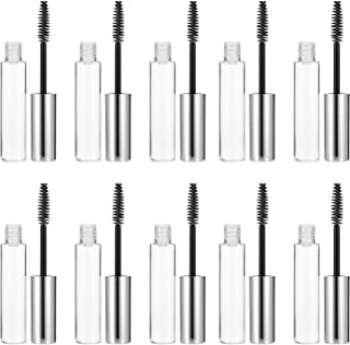 Beaupretty Tubo de rímel vazio com varinha de cílios, transparente, recarregável, recipiente de cílios para aplicação de ó...