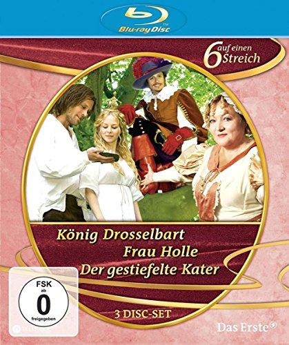 Sechs auf einen Streich - Märchenbox, Vol. 1: Der gestiefelte Kater/Frau Holle/König Drosselbart [Blu-ray]