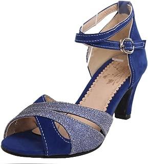 MisaKinsa Women Fashion Mid Heel Sandals Peep Toe