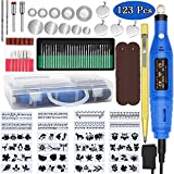 Engraving Tool Kit, PETUOL 123PCS Father's Day Multi-Functional Wired Carving Erosion Pen DIY Miniature Sander...