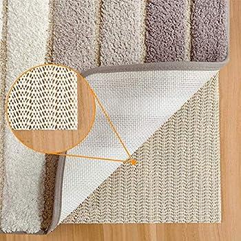 Non Slip Rug Pads for Hardwood Floors,2x10 Feet Rug Gripper for Carpeted Vinyl Tile Floors with Area Rugs,Runner Anti Slip Skid Open Wave