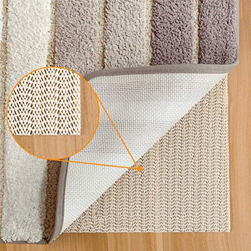 Aurrako Non Slip Rug Pads for Hardwood Floors,6x9 Anti Slip Rug Grippers for Vinyl Tile Floors with Area Rugs,Carpeted and Runner Non Adhesive Carpet Liner (Open Wave)