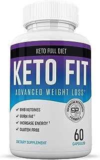 Best Keto Slim Fit Diet Pills - Keto Advanced Appetite Suppressant for Weight Loss Supplements for Women and Men| Ketogenic Keto BHB Salts Supplement | Exogenous Ketones | 60 Ketosis Pills