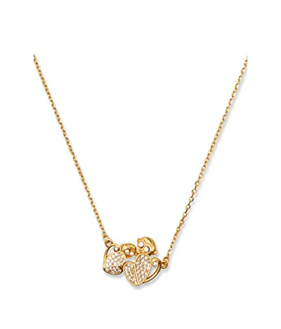 Kate Spade New York Mom Knows Best Pave Monkey Pendant Necklace (Clear/Gold) Necklace
