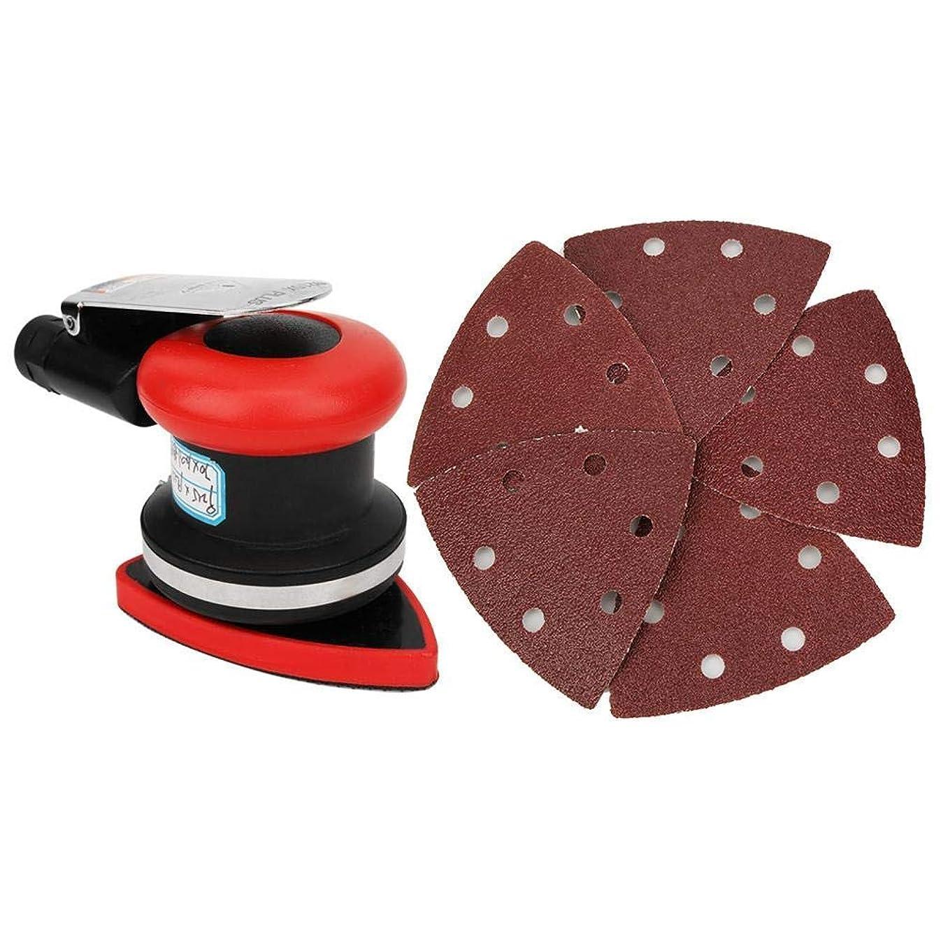 無実適応エンジニアBZM-ZM パワー?オービット?サンダース、耐久性に優れたエアーオービタルサンダーメタル木工研磨のための三角サンドペーパー研磨研削盤ハンドパワーツール