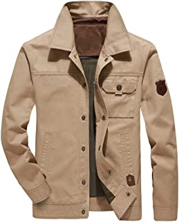 Sunward Men's Coat Autumn Winter Casual Outwear Zipper Breathable Jacket