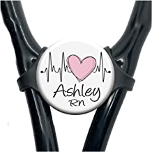 stethoscope heart monogram