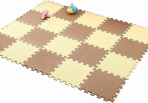 HLMIN Tapis De Puzzles Jigsaw Mousse Imbriquée en EVA, Soft Puzzle Play for Enfants Tapis De Bébé, Gym, Chambre à Coucher (Couleur   B, Taille   29x29x1CM(50PCS))