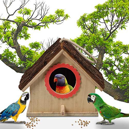 FiedFikt grote vogel huis houten opknoping staande vogelhuisje buiten tuin Decor vogel nest doos vogel huis huis huis schuilplaats Nesting Habitat