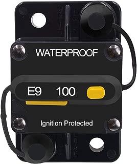 E-Bro 100 Amp Circuit Breaker with Manual Reset Switch Waterproof Car Marine Boat (100A)
