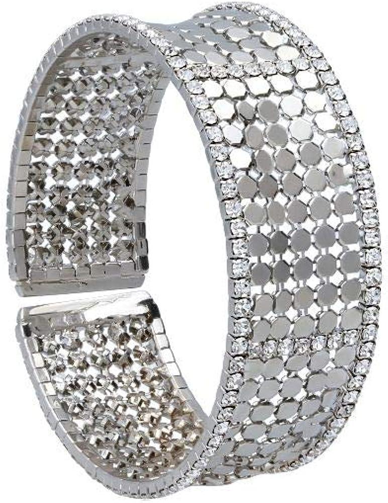 Stroili  bracciale per donna con strass in metallo rodiato color argento 1666124