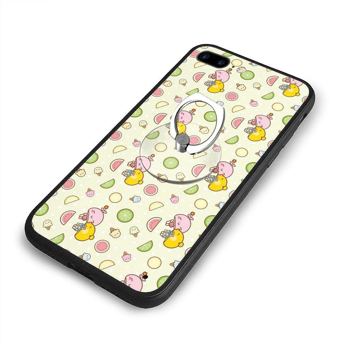 ゲームスクラップブックかすかなかわいい 可愛いiPhone 7/8 Plusケースリングブラケット 携帯カバー 創意デザイン軽量 傷つけ防止 360°回転ブラケット 携帯ケース PC 衝撃防止 全面保護