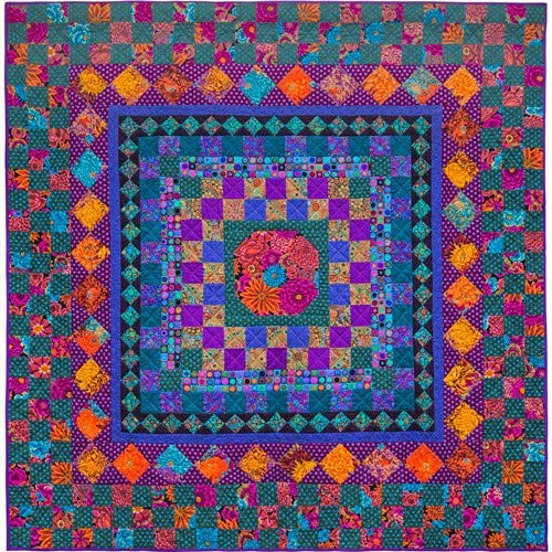 Kaffe Fassett Autumn Checkerboard Fabric Pack from Quilts in The Cotswolds Book