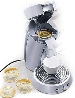 UPP Vainas de café Filtro de café reutilizable rellenable para máquina de café máquina de almohadilla de plástico de 4 piezas