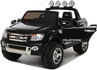 乗用ラジコンフォード レンジャー スタンダード(FORD RANGER) 超大型!二人乗り可能! Wモーター フォード 品のハイクオリティ ペダルとプロポで操作可能な電動 (ブラック)