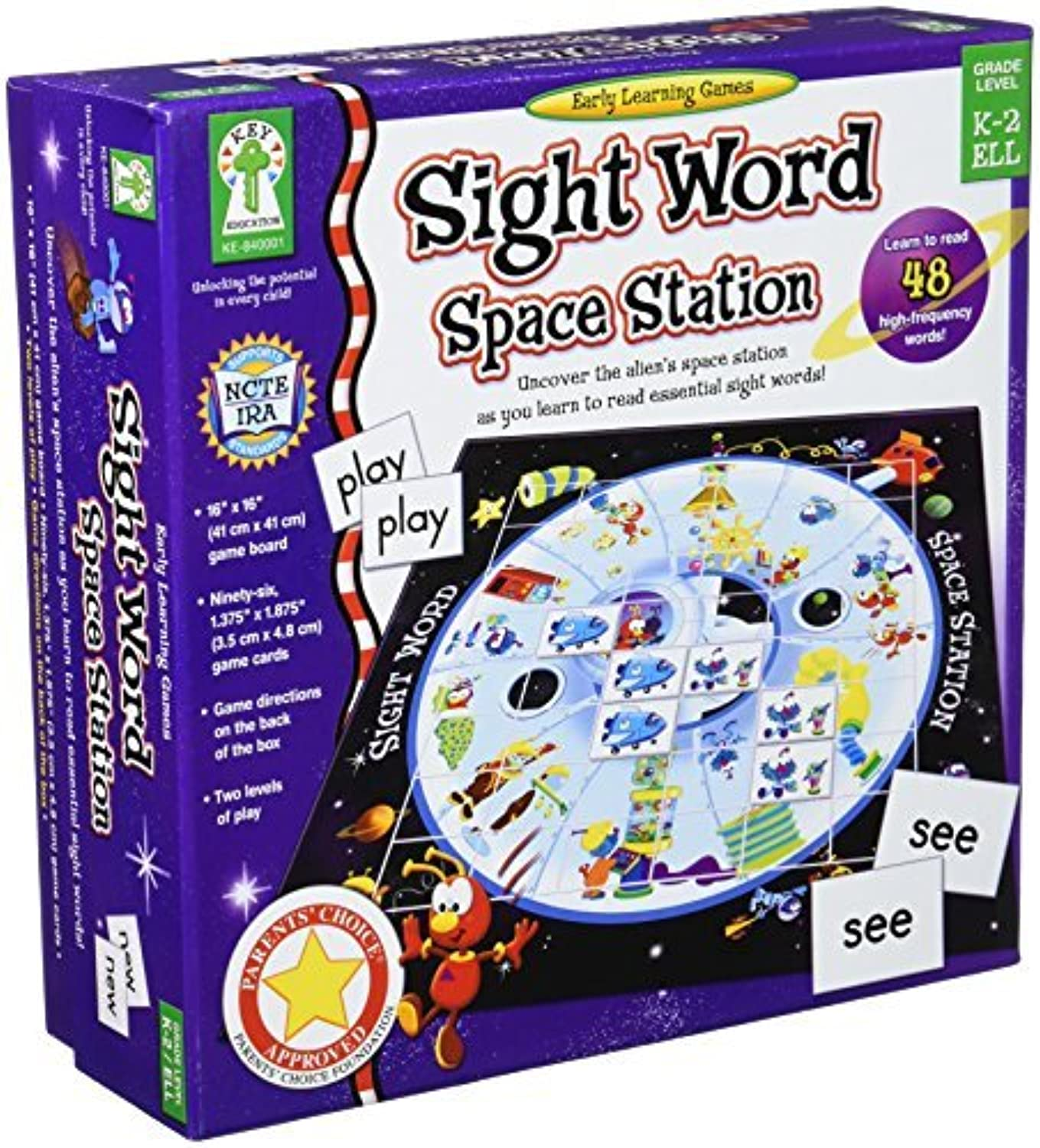 Sight Word Space Station Educational Board Game by Key Education