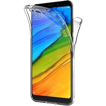 AICEK Funda Xiaomi Redmi 5 Plus, Transparente Silicona 360°Full ...
