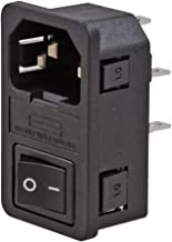 ADAM TECHNOLOGIES IEC-GS-1-100 Power Entry Module Unfiltered Male 3 Position, 250VAC, 15 Amp Switch/Fuse Straight, 1 Port, 1.5