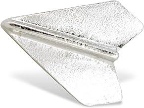 YUTTALIA ピンバッジ 紙飛行機 ピンズ 紙ひこうき シルバー 飛行機 ピンバッチ 銀 ラペルピン
