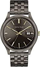 Caravelle Designed by Bulova Men's Quartz Watch with Stainless-Steel Strap, Grey, 20 (Model: 45B149)