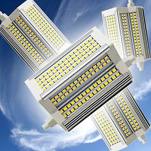 R7S Bombilla LED 118mm 50W Lámpara de Reflector Regulable Doble End J118 Bulb 3000-6000K Equivalente 500W lámpara halógena 220 Grados 110V-240V R7S Bulbos LED,4000k
