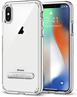 Spigen iPhone X 2017 Case Ultra Hybrid, Small, Crystal Clear