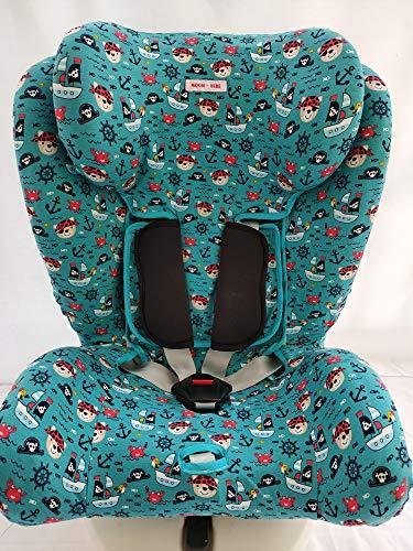 MOON-BEBE FUNDA PARA Star Ibaby - Silla de coche grupo 0+/1/2/3 Baby Auto Fix Noe (verde)