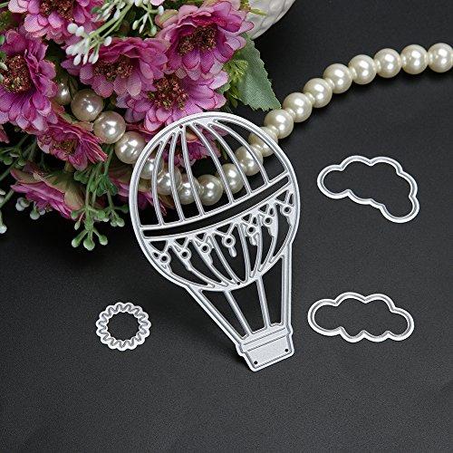 Muzhili3 Stanzschablonen Feuerballon Wolke Sonne Metall Stanzform Scrapbooking Basteln DIY Foto Schablonen