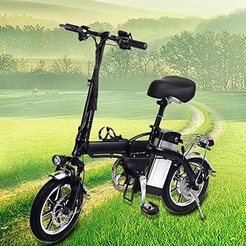 Elektro Fahrrad für Erwachsene Elektrofahrrad 14 Zoll Herren Damen Lithium Batterie Fahrrad aus Aluminiumlegierung, Maximale Kapazität: 120 Kg