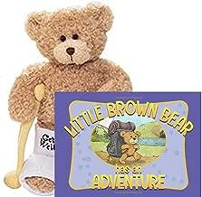 Gund Break a Leg Jr., Broken Leg Bear Get Well Soon Teddy Bear with a Cast (Break a Leg with Little Brown Bear Book)