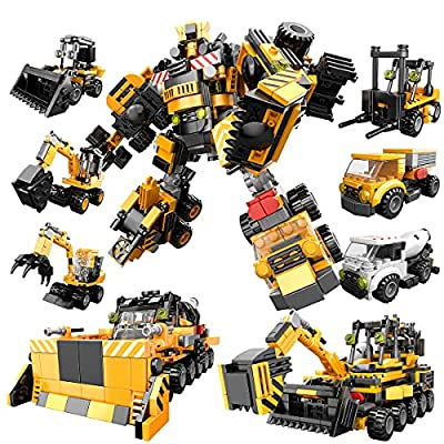 Amazon - 60% Off on Building Toys for Kids Ages 6-8, 9 in 1 Engineering Transform Robot Building Toy