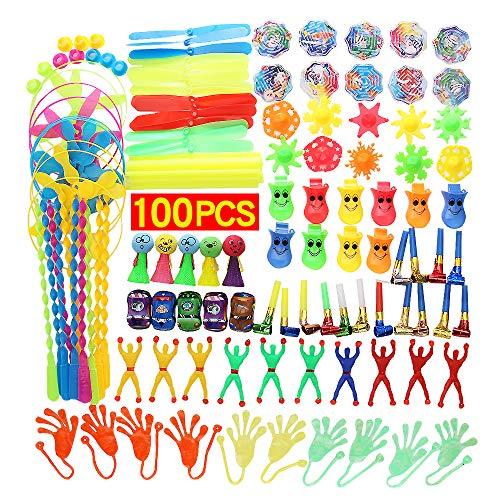 JiaLe Más de 100 Piezas de Relleno de Juguetes para Fiestas, Juguetes para Fiestas, Fiesta de cumpleaños, premios en el Aula Escolar, premios de Carnaval, piñata, Rellenos de Canasta de Pascua
