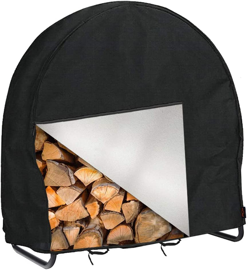 IC ICLOVER New York Mall Firewood Log Classic Hoop Cover Heavy Outdoor Inch 40 4 Duty