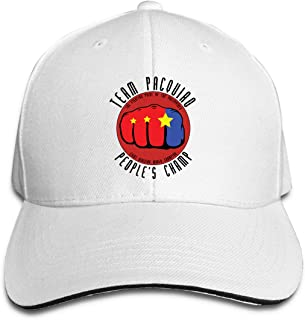 Nickmy Manny Pacquiao Outdoor Travelling Cotton Hats Adjustable White