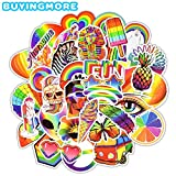 BLOUR 50 PCS PVC Fashion Rainbow Sticker Pack Colorido Animal Cute Graffiti Pegatinas Impermeables para Laptop Guitarra Skateboard Maleta