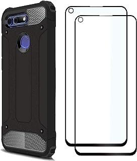 FANFO® Huawei Honor View 20 Funda + [2 Pack] Cristal Vidrio Templado, Negro