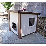 ecoFLEX Outdoor and Feral Cat House, Measures 20.1 inches high x 20.1 inches wide x 22 inches long