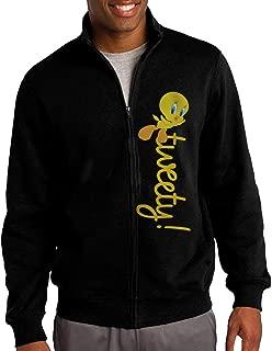 Cute Tweety Bird Men's Sportswear Hooded Jacket